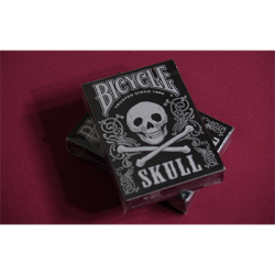 Bicycle Skull Metallic (Silver) USPCC by Gambler's Warehouse wwww.magiedirecte.com