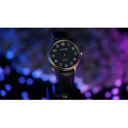 Infinity Watch V3 - Gold Case Black Dial / STD Version (Gimmick and Online Instructions) by Bluether Magic - Trick wwww.magiedir