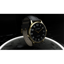 Infinity Watch V3 - Gold Case Black Dial / PEN Version (Gimmick and Online Instructions) by Bluether Magic - Trick wwww.magiedir