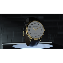 Infinity Watch V3 - Gold Case White Dial / STD Version (Gimmick and Online Instructions) by Bluether Magic - Trick wwww.magiedir