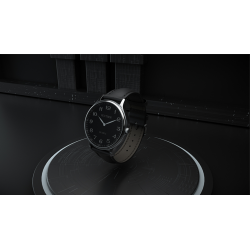 Infinity Watch V3 - Silver Case Black Dial / STD Version (Gimmick and Online Instructions) by Bluether Magic - Trick wwww.magied
