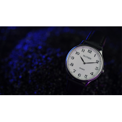 Infinity Watch V3 - Silver Case White Dial / STD Version (Gimmick and Online Instructions) by Bluether Magic - Trick wwww.magied
