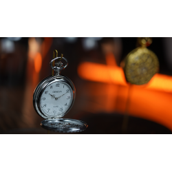 Infinity Pocket Watch V3 - Silver Case White Dial / STD Version (Gimmick and Online Instructions) by Bluether Magic - Trick wwww