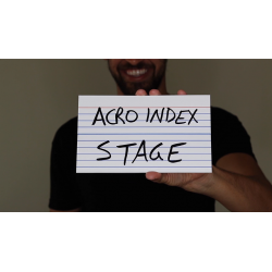 """Acro Index Dry Erase Large 5""""x8""""(Gimmicks and Online Instructions) by Blake Vogt - Trick wwww.magiedirecte.com"""