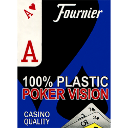 Fournier plastic Playing Cards Large Pips (bleu) wwww.magiedirecte.com