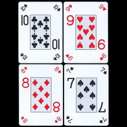Fournier plastic Playing Cards Large Pips (bleu) wwww.magiedirecte.com