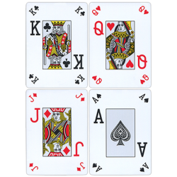 Fournier Plastic Playing Cards Large Pips (Rouge) wwww.magiedirecte.com