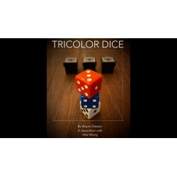 TRICOLOR DICE wwww.magiedirecte.com