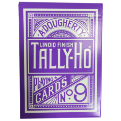 Tally Ho Reverse Circle back (Violet) Limited Ed. by Aloy Studios / USPCC wwww.magiedirecte.com