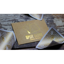 COLORED Split Cards 10 ct. (Gold) by PCTC - Trick wwww.magiedirecte.com