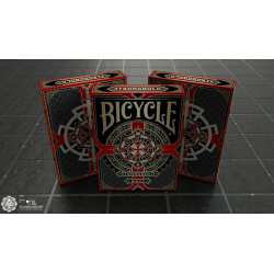 Bicycle Stronghold Crimson Playing Cards wwww.magiedirecte.com