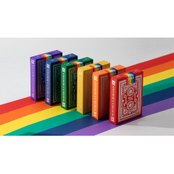 DKNG Rainbow Wheels (Red) Playing Cards by Art of Play wwww.magiedirecte.com