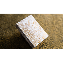 White Gold Edition V3 Playing Cards by Joker and the Thief wwww.magiedirecte.com