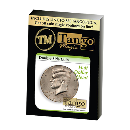 Double Side Half Dollar (Heads) (D0035) by Tango Magic - Trick wwww.magiedirecte.com
