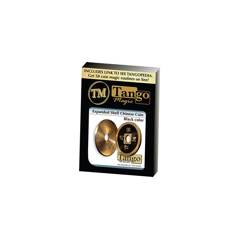 Expanded Chinese coin Shell made in Brass (CH004) from Tango Coin Magic wwww.magiedirecte.com