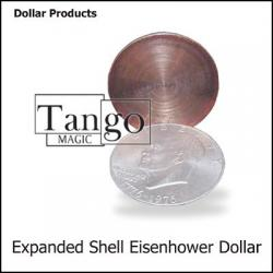 Expanded Eisenhower Dollar Shell (w/DVD)(D0009) by Tango - Trick wwww.magiedirecte.com