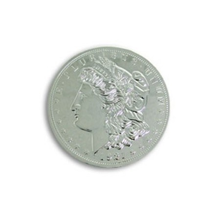 Jumbo 3 inch Morgan Chrome Dollar - Trick wwww.magiedirecte.com