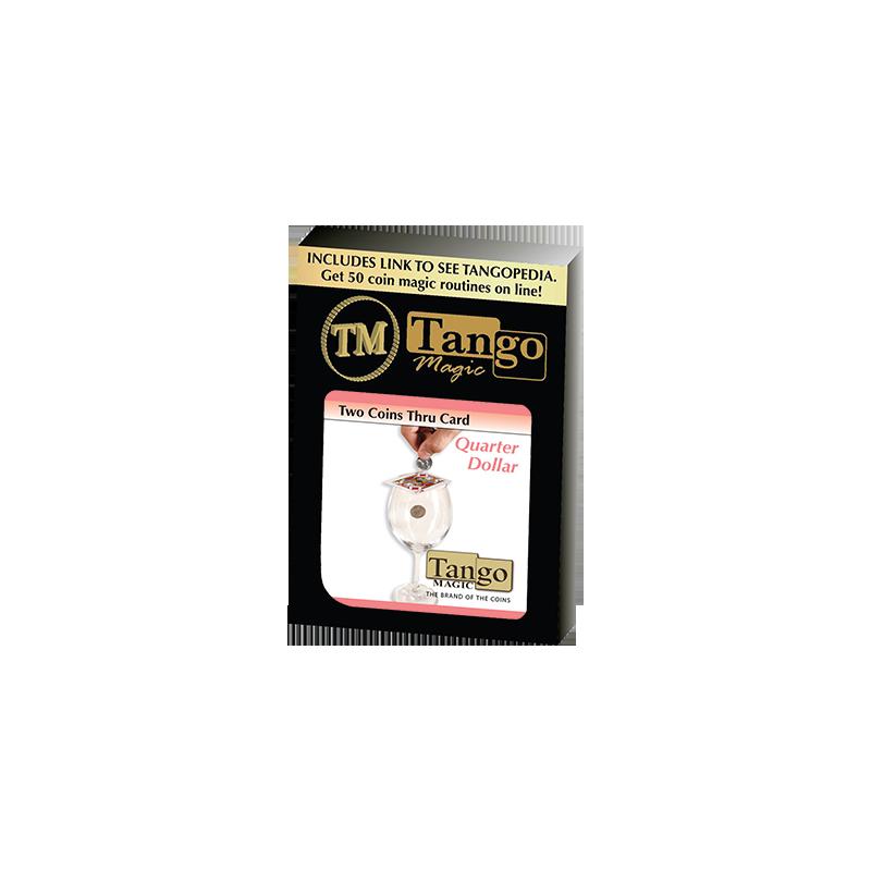 TWO COINS THRU CARD (Quarter Dollar) - Tango wwww.magiedirecte.com