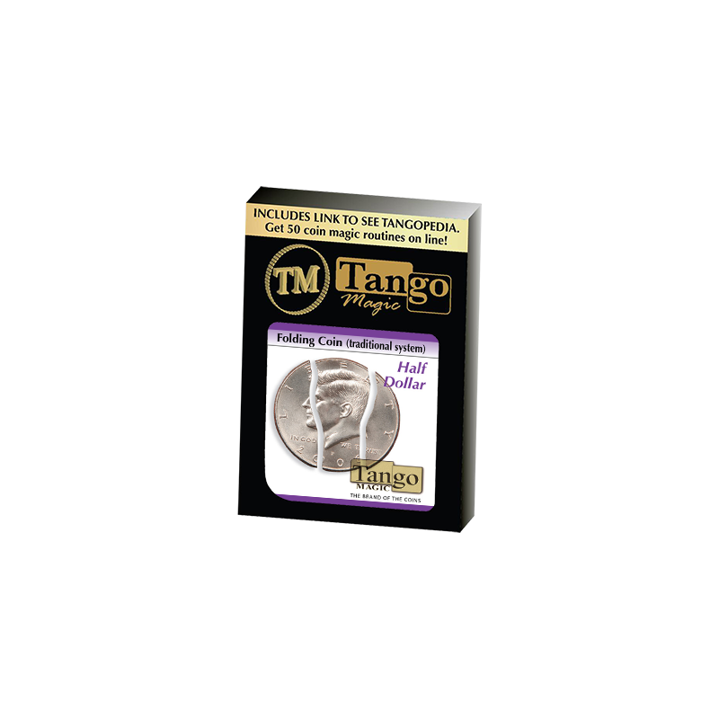 Folding Coin Half Dollar (D0020) by Tango Magic - Trick wwww.magiedirecte.com