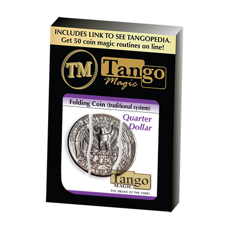 Folding Coin Quarter (D0021) (Traditional) by Tango Magic - Trick (D0021) wwww.magiedirecte.com