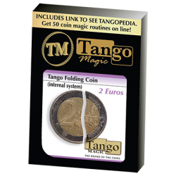 Tango Folding Coin 2 Euro Internal System by Tango-Trick (E0039) wwww.magiedirecte.com
