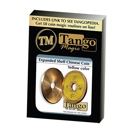 Expanded Shell Chinese Coin made in Brass (Yellow) by Tango - Trick (CH006) wwww.magiedirecte.com