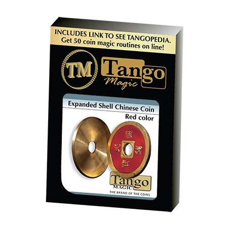 Expanded Shell Chinese Coin made in Brass (Red) by Tango - Trick (CH007) wwww.magiedirecte.com