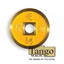 NORMAL CHINESE COIN Made in Brass (Jaune) - Tango wwww.magiedirecte.com