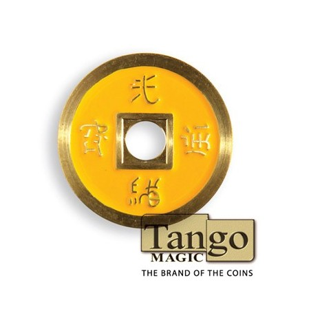 Normal Chinese Coin made in Brass (Yellow) by Tango-Trick (CH010) wwww.magiedirecte.com