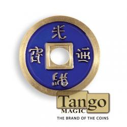 Normal Chinese Coin made in Brass (Blue) by Tango -Trick (CH009) wwww.magiedirecte.com