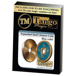 Expanded Shell Chinese Coin made in Brass (Blue) by Tango - Trick (CH005) wwww.magiedirecte.com