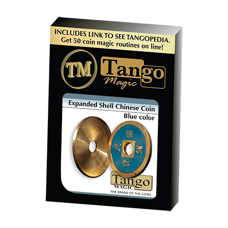 EXPANDED SHELL COIN (Chinese made in Brass Bleu) - Tango wwww.magiedirecte.com