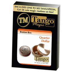 Boston Box (Brass US Quarter) by Tango Magic - Trick (B0011) wwww.magiedirecte.com
