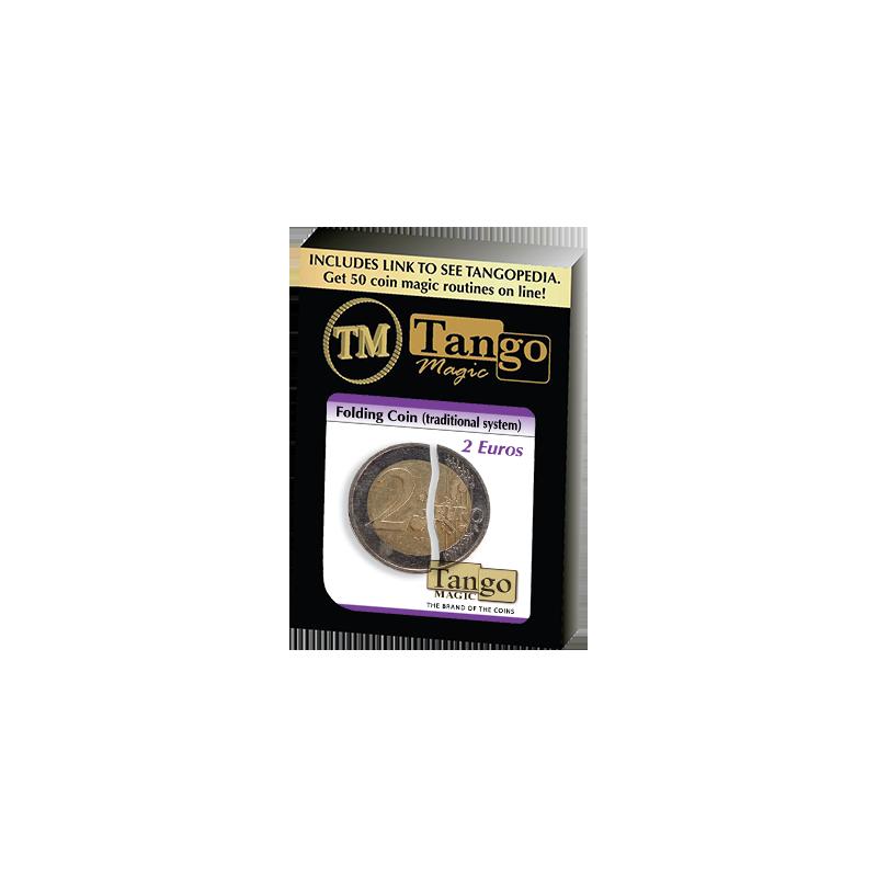 Folding Coin - 2  Euros (Traditional) by Tango Magic - Trick (E0064) wwww.magiedirecte.com