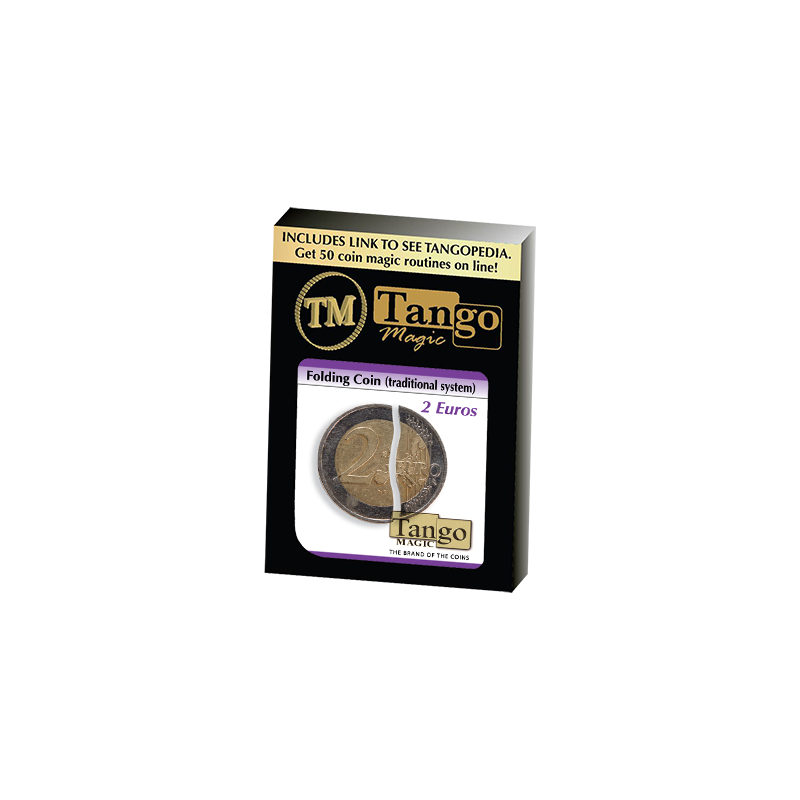FOLDING COIN TRADITIONAL (2 Euro) - Tango Magic wwww.magiedirecte.com