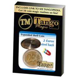 Expanded Shell Coin - (2 Euro, Steel Back) by Tango Magic - Trick (E0065) wwww.magiedirecte.com