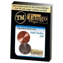 Expanded Shell Coin - Half Dollar (Tail)(D0002) by Tango - Trick wwww.magiedirecte.com