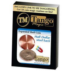 EXPANDED SHELL COIN (Steel Back - Half Dollar) - Tango Magic wwww.magiedirecte.com