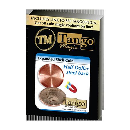 EXPANDED SHELL COIN (Steel Back - Half Dollar) - Tango Magic wwww.magiedirecte.com