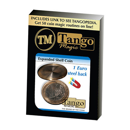 Expanded Shell Coin - (1 Euro, Steel Back) by Tango Magic - Trick (E0066) wwww.magiedirecte.com