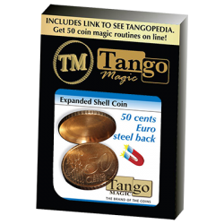 Expanded Shell Coin (50 Cent Euro, Steel Back) by Tango Magic - Trick (E0005) wwww.magiedirecte.com