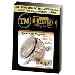 Flipper Coin Magnetic Quarter Dollar (D0043)by Tango - Trick wwww.magiedirecte.com