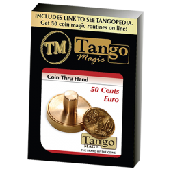 50 cents Euro Thru Hand by Tango - Trick (E0057) wwww.magiedirecte.com