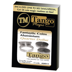 FANTASIC COINS  ALUMINUM Quarter  (Made with Real Coins) - Tango wwww.magiedirecte.com