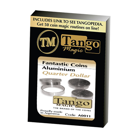 Fantasic Coins Quarter Dollar Aluminum (A0011) (Made with Real Coins) by Tango-Trick wwww.magiedirecte.com