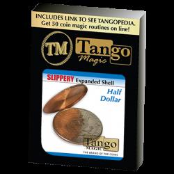 Slippery Expanded Shell (Half Dollar) by Tango-Trick (D0091) wwww.magiedirecte.com