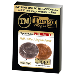 Flipper Coin PRO Gravity Half Dollar/English Penny - Tango - Trick (D0101) wwww.magiedirecte.com