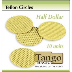Teflon Circle Half Dollar size (10 units) by Tango -Trick (T001) wwww.magiedirecte.com