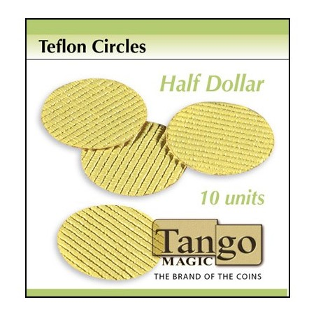 TEFLON CIRCLE HALF DOLLAR  (10 unités) - Tango wwww.magiedirecte.com
