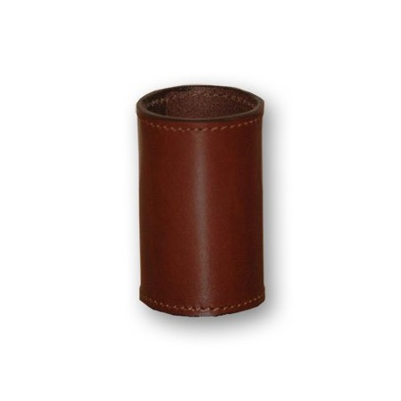LEATHER COIN CYLINDER (Marron Dollar ) wwww.magiedirecte.com